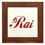 Rai name Framed Tile