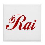 Rai name Tile Coaster