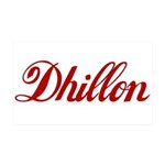 Dhillon name 35x21 Wall Decal