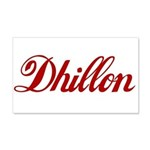 Dhillon name 20x12 Wall Decal