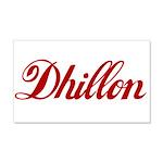 Dhillon name 20x12 Wall Decal