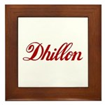 Dhillon name Framed Tile