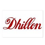 Dhillon name Postcards (Package of 8)