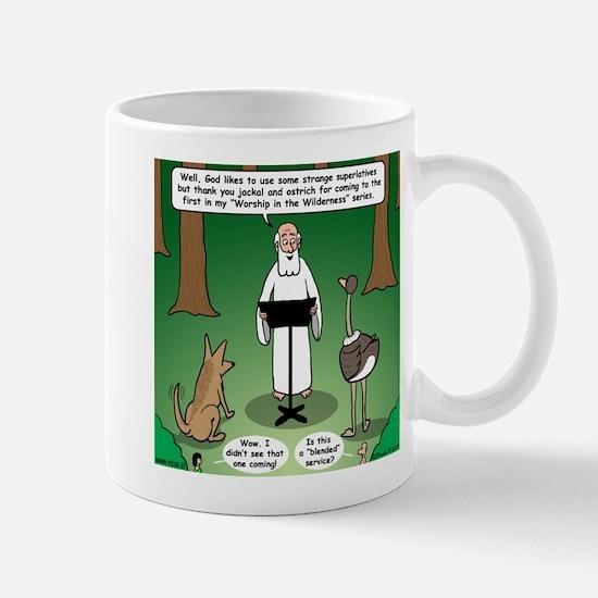Ostrich Jackal Sermon Mug