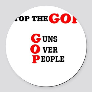 STOP THE GOP Round Car Magnet