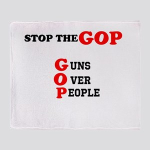 STOP THE GOP Throw Blanket