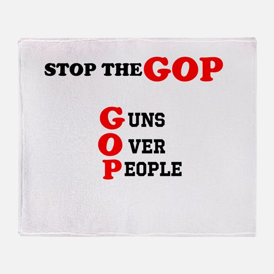 STOP THE GOP Throw Blanket
