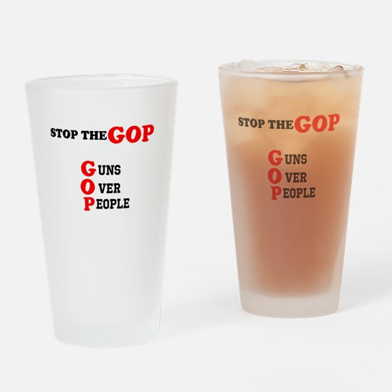 STOP THE GOP Drinking Glass