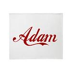 Adam name Throw Blanket