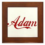 Adam name Framed Tile