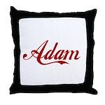 Adam name Throw Pillow