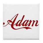 Adam name Tile Coaster