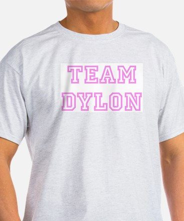 Pink team Dylon Ash Grey T-Shirt
