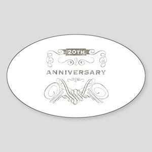 20th Vintage Anniversary Sticker (Oval)