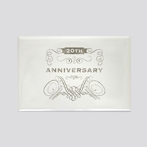 20th Vintage Anniversary Rectangle Magnet