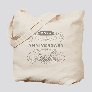 20th Vintage Anniversary Tote Bag