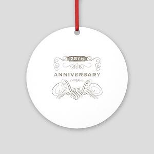 25th Vintage Anniversary Ornament (Round)