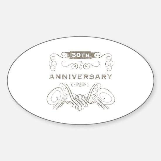 30th Vintage Anniversary Sticker (Oval)