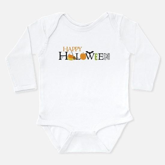 Happy Halloween Long Sleeve Infant Bodysuit