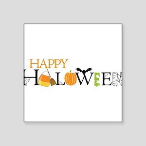 "Happy Halloween Square Sticker 3"" x 3"""