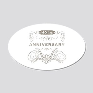 40th Vintage Anniversary 20x12 Oval Wall Decal