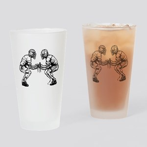 Lacrosse Faceoff Drinking Glass