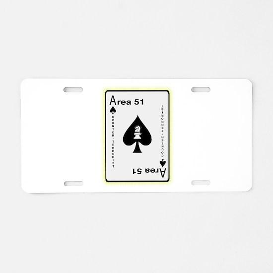 Area 51 Counter Terrorist Aluminum License Plate