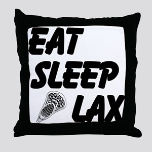 Eat Sleep Lax Throw Pillow