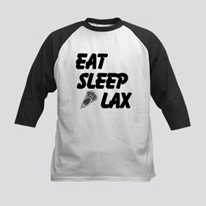 Eat Sleep Lax Kids Baseball Jersey