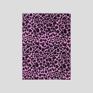 Purple Leopard Print 5'x7'Area Rug