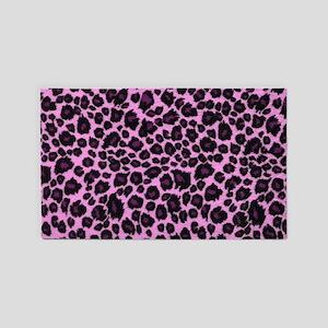 Purple Leopard Print 3'x5' Area Rug