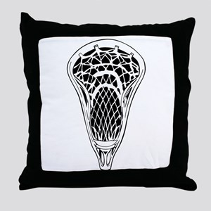 Lacrosse Stick Head Throw Pillow