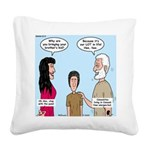 Abe's Lot in Life Square Canvas Pillow