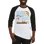 Rainbow: God's Sticky Note Baseball Jersey