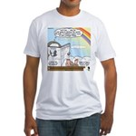 Rainbow: God's Sticky Note Fitted T-Shirt
