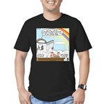 Rainbow: God's Sticky Note Men's Fitted T-Shirt (d