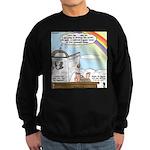Rainbow: God's Sticky Note Sweatshirt (dark)