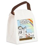 Rainbow: God's Sticky Note Canvas Lunch Bag