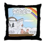 Rainbow: God's Sticky Note Throw Pillow