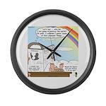Rainbow: God's Sticky Note Large Wall Clock