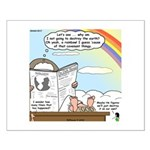 Rainbow: God's Sticky Note Small Poster