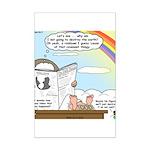 Rainbow: God's Sticky Note Mini Poster Print