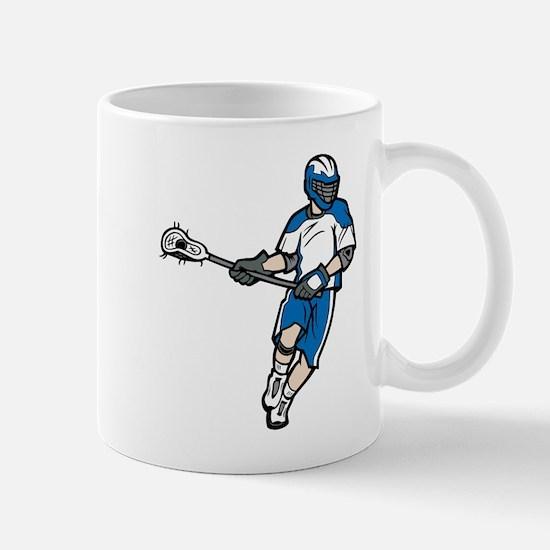 Blue Lacrosse Player Mug