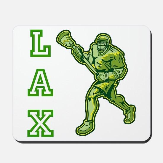 Green LAX Player Mousepad