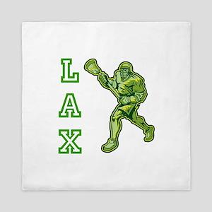 Green LAX Player Queen Duvet