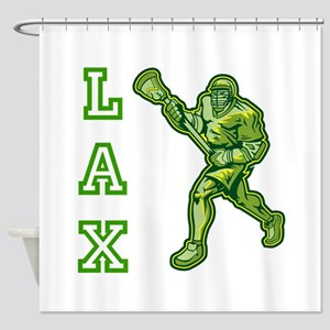 Green LAX Player Shower Curtain