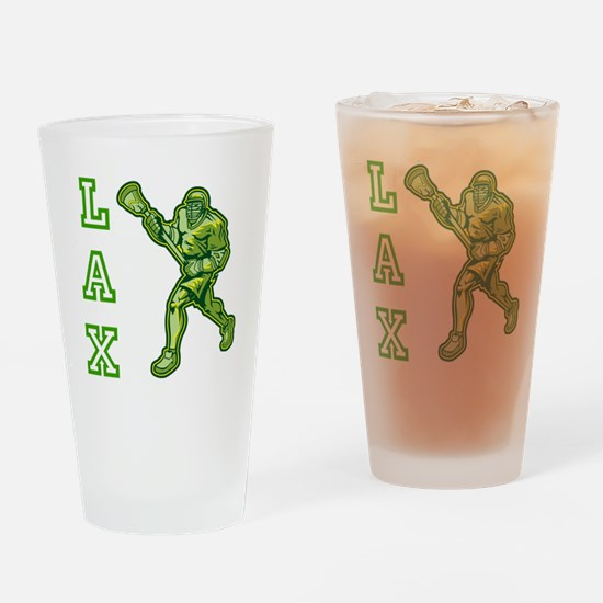 Green LAX Player Drinking Glass