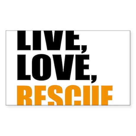 rescue Sticker (Rectangle)