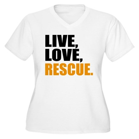rescue Women's Plus Size V-Neck T-Shirt