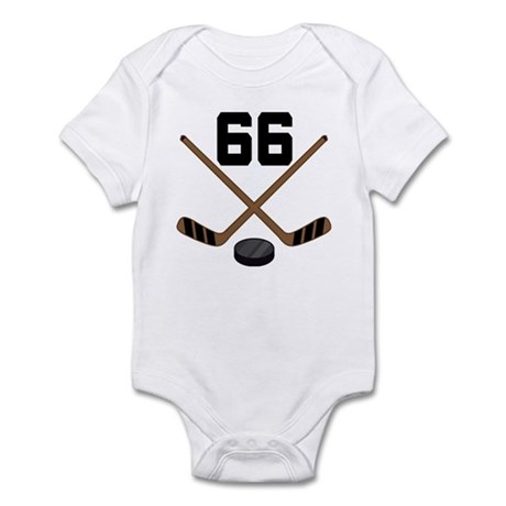 Hockey Player Number 66 Infant Bodysuit